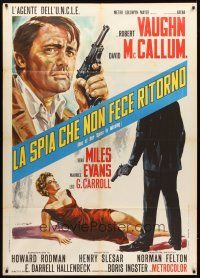 3x500 ONE OF OUR SPIES IS MISSING Italian 1p '66 Man from UNCLE, art of Vaughn by DiStefano!