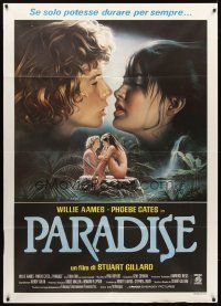 3x503 PARADISE Italian 1p '82 sexy Phoebe Cates, Willie Aames, different sexy art by Sciotti!