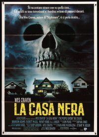 3x504 PEOPLE UNDER THE STAIRS Italian 1p '92 Wes Craven, image of huge skull looming over house!