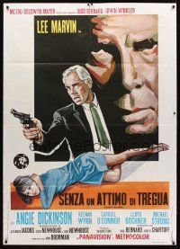 3x506 POINT BLANK Italian 1p '68 different art of Lee Marvin, Angie Dickinson, John Boorman noir!
