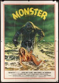 3x366 HUMANOIDS FROM THE DEEP Italian 2p '80 classic art of Monster over sexy girl on beach!
