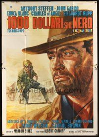 3x378 ONE THOUSAND DOLLARS ON THE BLACK Italian 2p '66 Anthony Steffen, cool spaghetti western art