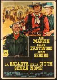 3x380 PAINT YOUR WAGON Italian 2p '70 different Colizzi art of Clint Eastwood, Marvin & Seberg!