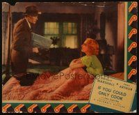 3x165 IF YOU COULD ONLY COOK jumbo LC '35 Herbert Marshall stares at angry Jean Arthur in bed!