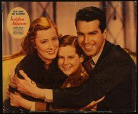 3x166 INVITATION TO HAPPINESS jumbo LC '39 c/u of Fred MacMurray w/ wife Irene Dunne & Billy Cook!
