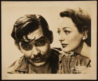 3x171 STRANGE CARGO oversize still '40 great close up of worried Clark Gable & pretty Joan Crawford!