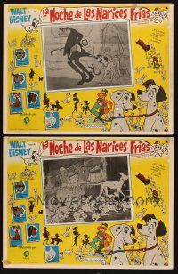 3x304 ONE HUNDRED & ONE DALMATIANS 2 Mexican LCs '61 classic Walt Disney canine family cartoon!