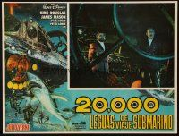 3x219 20,000 LEAGUES UNDER THE SEA Mexican LC R70s Jules Verne classic, c/u of James Mason & Lukas