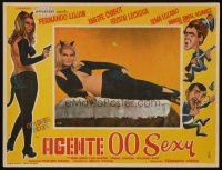3x222 AGENTE 00 SEXY Mexican LC '68 former Miss California Amadee Chabot in skimpy cat outfit!