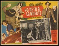 3x224 APPOINTMENT WITH DANGER Mexican LC '51 three men hold kneeling Alan Ladd at gunpoint!