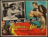 3x225 BAD & THE BEAUTIFUL Mexican LC '53 romantic close up of Dick Powell & Gloria Grahame!