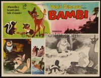 3x228 BAMBI Mexican LC R60s Walt Disney cartoon classic, wise owl talks to animals!