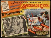 3x285 HOUSE OF WAX Mexican LC '53 great 3-D border art of monster & sexy girls!