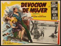 3x288 JEOPARDY Mexican LC '53 cool different border art of Barbara Stanwyck & Barry Sullivan!
