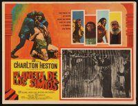 3x310 PLANET OF THE APES Mexican LC '68 Charlton Heston, classic sci-fi, different border art!