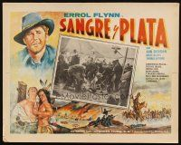 3x323 SILVER RIVER Mexican LC R50s Errol Flynn watches soldiers brawling in tent, cool border art!