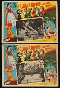 3x325 SNOW WHITE & THE SEVEN DWARFS 2 Mexican LCs R60s Disney animated cartoon fantasy classic!