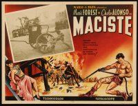 3x326 SON OF SAMSON Mexican LC '62 Mark Forest as Maciste stopping chariot with his bare hands!