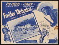 3x332 SUNSET IN THE WEST Mexican LC '50 cowboy Roy Rogers, cool train image!