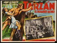 3x335 TARZAN THE APE MAN Mexican LC R50s cool image of natives doing ritual!