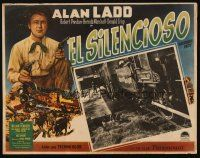 3x347 WHISPERING SMITH Mexican LC '49 far shot of Alan Ladd standing by train!