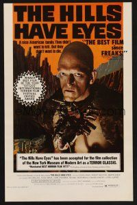 3x184 HILLS HAVE EYES 11x17 special poster '78 Wes Craven, creepy sub-human Michael Berryman!