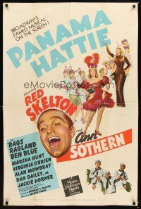 3x178 PANAMA HATTIE style D 1sh '42 art of laughing sailor Red Skelton & sexy dancer Ann Sothern!