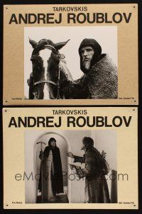 3x215 ANDREI RUBLEV 4 Swiss LCs '69 Andrei Tarkovsky's historical artist biography, great images!