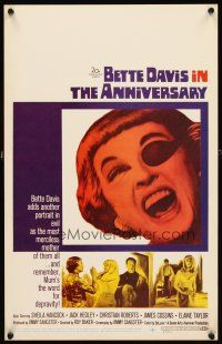 3x004 ANNIVERSARY WC '67 Bette Davis with funky eyepatch in another portrait in evil!