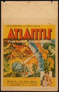 3x006 ATLANTIS THE LOST CONTINENT WC '61 George Pal underwater sci-fi, cool fantasy art!