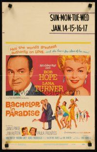 3x009 BACHELOR IN PARADISE WC '61 world's greatest lover Bob Hope romances sexy Lana Turner!