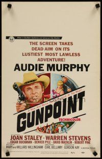 3x059 GUNPOINT WC '66 Audie Murphy in the story of a town with a gun in its back!