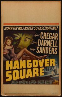 3x060 HANGOVER SQUARE WC '45 art of sexy Linda Darnell, Sanders, horror was never so fascinating!