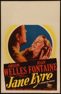 3x069 JANE EYRE WC '44 art of Orson Welles as Edward Rochester holding sad Joan Fontaine as Jane!