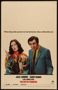 3x096 OUT-OF-TOWNERS WC '70 Jack Lemmon, Sandy Dennis, written by Neil Simon!