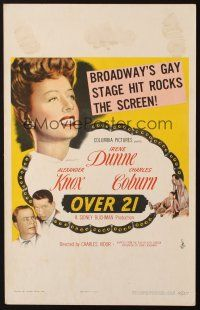 3x097 OVER 21 WC '45 Irene Dunne, Charles Coburn, Broadway's gay stage hit!