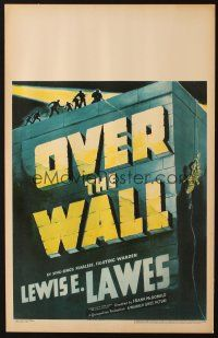 3x098 OVER THE WALL WC '38 cool title treatment & police shooting at escaped convict!