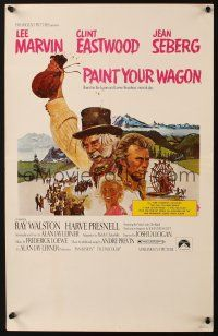 3x099 PAINT YOUR WAGON WC '69 art of Clint Eastwood, Lee Marvin & pretty Jean Seberg!
