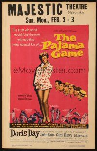3x100 PAJAMA GAME WC '57 sexy full-length image of Doris Day, who chases boys!