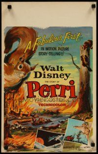 3x102 PERRI WC '57 Disney's fabulous first in motion picture story-telling, wacky squirrels!