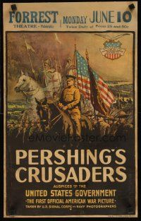 3x103 PERSHING'S CRUSADERS WC '18 cool art of World War I soldiers & medieval Crusades knights!