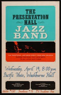 3x187 PRESERVATION HALL JAZZ BAND 14x22 music poster '80s traditional music from New Orleans!