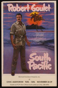 3x129 SOUTH PACIFIC stage play WC '87 starring Robert Goulet, art by Layne Johnson!