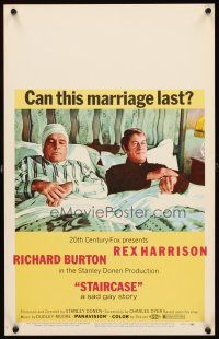 3x130 STAIRCASE WC '69 Stanley Donen directed, Rex Harrison & Richard Burton in a sad gay story!