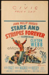 3x132 STARS & STRIPES FOREVER WC '53 Clifton Webb as band leader & composer John Philip Sousa!