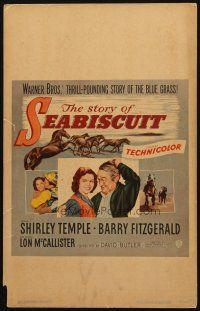 3x133 STORY OF SEABISCUIT WC '49 Shirley Temple, Barry Fitzgerald, cool horse racing images!