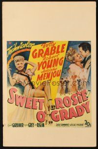 3x134 SWEET ROSIE O'GRADY WC '43 sexy full-length Betty Grable, Robert Young, Adolphe Menjou