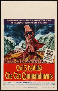3x137 TEN COMMANDMENTS WC R66 Cecil B. DeMille classic, art of Charlton Heston with tablets!