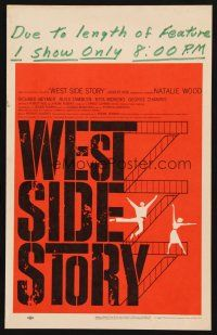 3x149 WEST SIDE STORY pre-Awards WC '61 Academy Award winning classic musical, wonderful art!