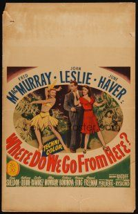3x151 WHERE DO WE GO FROM HERE WC '45 Fred MacMurray, Joan Leslie & June Haver in odd war fantasy!